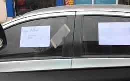 """Tờ giấy """"ngu như bò"""" dán trên ô tô và cơn giận dữ của dân mạng"""