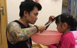 Khoảnh khắc căng thẳng của ông bố xăm trổ trước con gái gây sốt