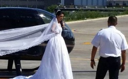 Để gây bất ngờ cho chú rể, cô dâu thuê trực thăng đến lễ cưới và cái kết ngoài tưởng tượng