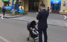 Hành động gây tranh cãi của ông bố trẻ giữa phố đi bộ