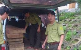 Kiểm lâm bắn cảnh cáo xe biển xanh chở gỗ lậu