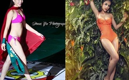 Hoa hậu Việt lộ vòng 2 to bất thường khác xa ảnh photoshop