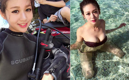 Nữ thợ lặn gây sốt vì quá xinh đẹp và gợi cảm