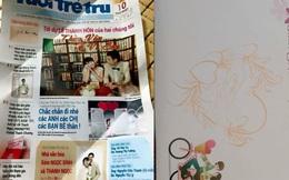 Thiệp cưới hình trang báo cực lạ của cặp vợ chồng Nghệ An