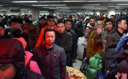 """""""Đại di cư"""" ở TQ: Gần 3 tỉ lượt người về quê ăn Tết"""
