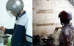 """Hình ảnh """"không thể nhịn cười"""" khi đàn ông vào bếp!"""