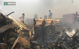 Cảnh tan hoang, đổ nát sau vụ cháy lớn ở khu công nghiệp Ngọc Hồi
