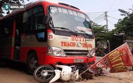 Xe buýt ủi bay 5 xe máy, một người đàn ông tử vong tại chỗ