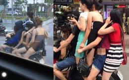 """Hình ảnh """"5 chị em trên 1 chiếc xe SH"""" khiến dân tình bức xúc"""