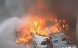 """Clip xe ô tô bốc cháy và nguyên nhân khiến người lớn """"méo mặt"""""""