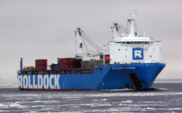 Bất ngờ ghi lại được ảnh tàu Rolldock Storm đưa tàu ngầm Kilo-636 Bà Rịa - Vũng Tàu về VN!