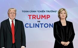 """[ĐỒ HỌA] Sau vài tiếng nữa, những """"chiến trường"""" này sẽ định đoạt cuộc đấu Trump-Clinton"""