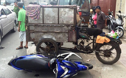 Ba gác máy chạy ngược chiều gây tai nạn liên hoàn