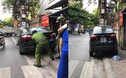 Tranh cãi hình ảnh Cảnh sát trật tự tháo biển kiểm soát ô tô vi phạm ở Hải Dương