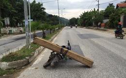 Quảng Nam: Chở gỗ lậu, lâm tặc hành hung Công an
