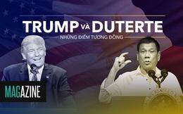 6 điểm giống nhau kỳ lạ giữa Trump và Duterte
