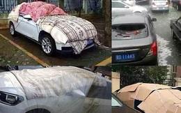"""Sau cơn mưa đá kinh hoàng, chủ xe đã """"cảnh giác"""" tới mức này đây"""