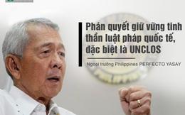 """Ngay sau phán quyết của PCA, Philippines kêu gọi """"hành xử kiềm chế"""""""
