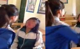 Nữ sinh tát bạn 52 cái, chảy máu mũi ngay trên lớp học: Đánh theo điện tử!