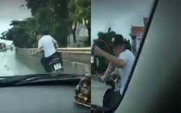 Ô tô truy đuổi 2 tên cướp điện thoại như trong phim hành động