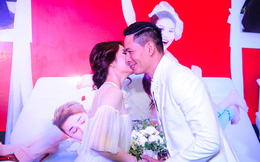 """Bã xã Bình Minh vui vẻ khi thấy chồng """"cưới"""" Diễm My"""