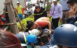 Thanh niên ngất, chảy đẫm máu, cảnh sát PCCC vội đưa đi cấp cứu