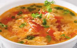 Không cần thuốc bổ, hãy bồi bổ sức khỏe bằng món canh trứng cà chua