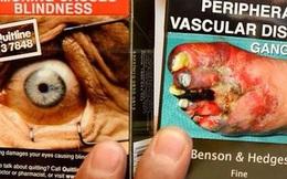 Hình ảnh cái chết ám ảnh được in trên bao thuốc lá khiến bạn run rẩy