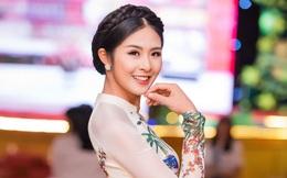 Hoa hậu Ngọc Hân xuất hiện chớp nhoáng tại sự kiện