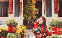 Elly Trần khoe ảnh chuẩn bị Tết bên con gái đầu lòng