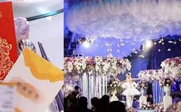 Đám cưới trăm tỉ, thiệp mời đính vàng và quà cưới gây ngỡ ngàng