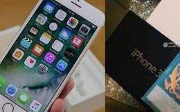"""Mua iPhone 7 qua mạng khi """"đập hộp"""" lại nhận được iPhone 3 và 4"""