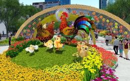 Ngắm cặp gà linh vật khổng lồ sẽ đặt tại đường hoa Sài Gòn năm 2017