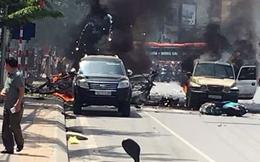 Xe taxi nổ như bom ở Cẩm Phả