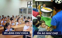 Lớp học như chùa, trẻ con như phỗng
