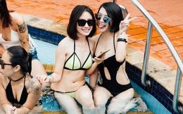 """Dàn hot girl mặc bikini bốc lửa tại """"tiệc bể bơi 5 sao"""" ở Hà Nội"""