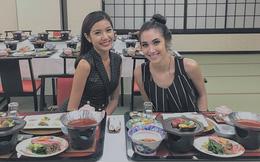 Á hậu Thúy Vân không kìm được lòng trước ẩm thực Nhật Bản