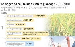 [Infographics] Kế hoạch cơ cấu lại nền kinh tế giai đoạn 2016 - 2020