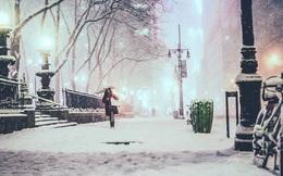 New York đẹp như thiên đường trong cơn bão tuyết