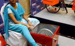Ở tuổi 14, cô gái Ấn Độ đã sáng chế ra máy giặt chạy bằng chân