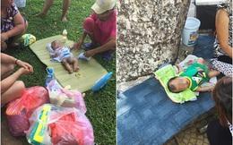 Bé trai 2 tháng bị vứt bỏ trên phố Hà Nội khiến người ta xót xa