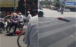 Người đàn ông nằm ăn vạ giữa đường Cát Linh, Hà Nội