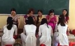 Thực hư chuyện học trò rửa chân cho cô giáo ở Thái Bình