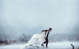 Cặp đôi Hà Thành chụp ảnh cưới giữa cơn bão số 1