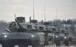 Hình ảnh diễn tập thực chiến đầu tiên của xe tăng Armata