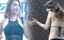"""Maria Ozawa mặc áo tắm lên sân khấu giao lưu, lộ thân hình """"không mê nổi"""""""