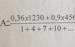 Bài toán tính nhanh lớp 5 làm khó người lớn