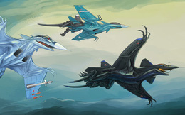 ẢNH ẤN TƯỢNG: Chiến đấu cơ, xe tăng Nga bỗng chốc biến thành... quái vật thời tiền sử