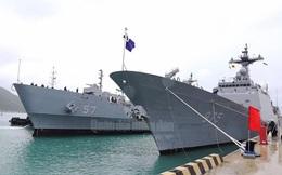 Tàu Hải quân Hàn Quốc cập Cảng Quốc tế Cam Ranh
