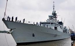 Cận cảnh tàu chiến Canada trên sông Sài Gòn